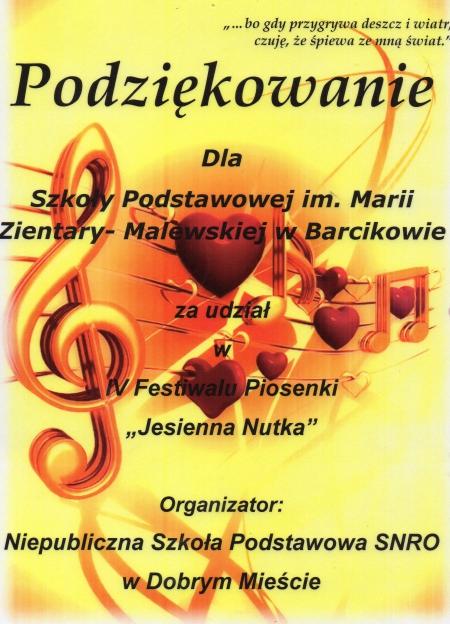 Festiwal piosenki Jesienna Nutka