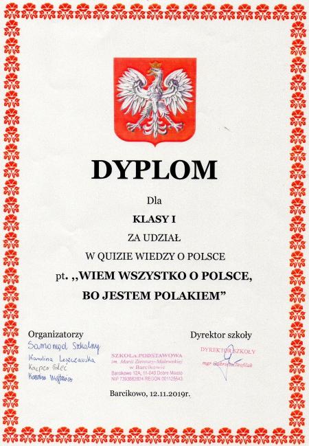 Quiz wiedzy o Polsce
