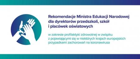 Rekomendacje Ministra Edukacji Narodowej  w zakresie profilaktyki zdrowotnej w z
