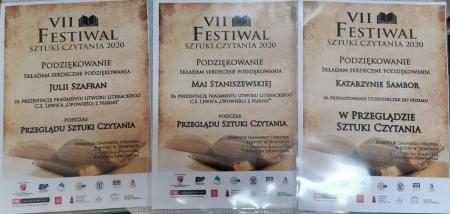 O VII Festiwalu Sztuki Czytania 2020 raz jeszcze...