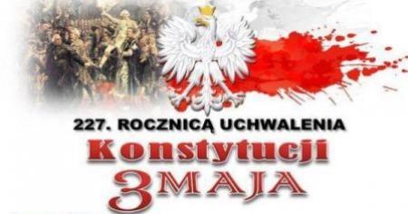 Szkolny Konkurs Historyczny upamiętniający 227 rocznicę uchwalenia Konstytucj